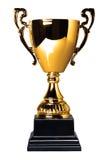 трофей чашки изолированный золотом