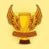 Трофей чемпиона с крылами для сверчка Стоковые Фото