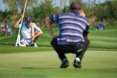 трофей 2010 турнира гольфа Азии европы королевский против Стоковая Фотография