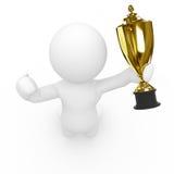 трофей sportsperson удерживания 3d Стоковая Фотография