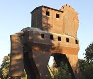 троянец лошади деревянное стоковые изображения