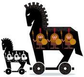 Троянская лошадь иллюстрация штока