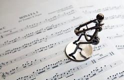 трубач музыканта утюга Стоковые Изображения