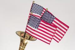 Труба американского флага Стоковое фото RF