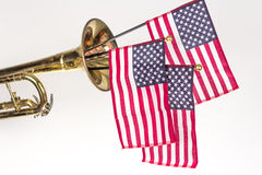 Труба американского флага Стоковое Фото