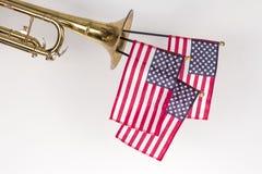 Труба американского флага Стоковые Изображения
