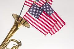 Труба американского флага Стоковая Фотография RF