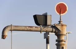 Труба водопровода на железнодорожном вокзале Стоковое Фото