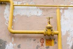 труба газа старая Стоковое Изображение
