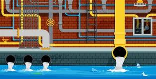 Труба города подземная бесплатная иллюстрация