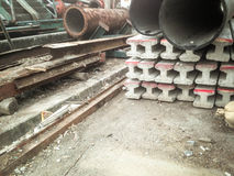 труба поляков и металла цемента Стоковое Фото