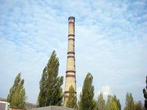 Труба термальной станции Стоковые Фото