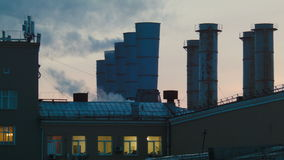 Труба фабрики сток-видео