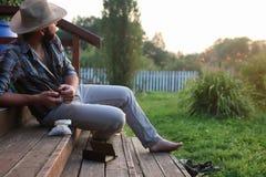 Труба дыма человека внешняя Стоковая Фотография