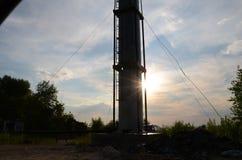 Трубка водонапорной башни Большой, высокий Стоковое Фото