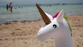 Трубка заплыва единорога раздувная Кольцо заплыва фантазии для отключения бассейна лета Песок видеоматериал