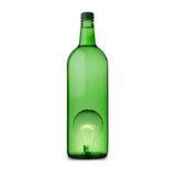Трубка идеи светлая в бутылке стоковые изображения rf