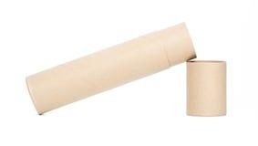 трубка коричневой бумаги Стоковое Изображение RF