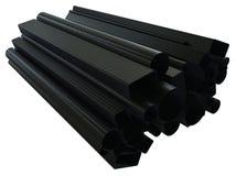 Трубки волокна углерода Стоковые Фотографии RF