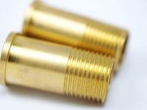 Трубная резьба для латунных труб и фитингов Стоковые Фото