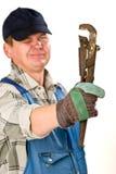 трубнорычажный ключ Стоковое Фото