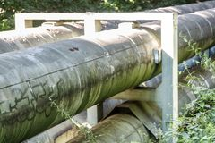 Трубопроводы с граффити в Хемнице стоковое фото