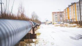 трубопровод в зиме стоковые изображения