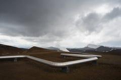 Трубопровод геотермальной энергии стоковая фотография rf