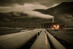 Трубопровод геотермической энергии Стоковые Изображения RF