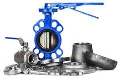 Трубопровод клапан-бабочки Стоковое Изображение RF