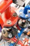 Трубопровод металла с большими фланцами Стоковое Изображение RF
