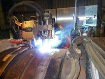 Трубопровод сварки встык подводный используя автоматическое оборудование Стоковые Изображения RF