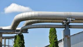Трубопровод электростанции Стоковая Фотография