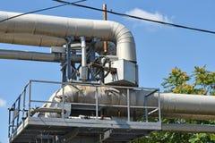 Трубопровод электростанции Стоковое Изображение RF