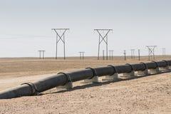 Трубопровод в пустыне Стоковые Фото