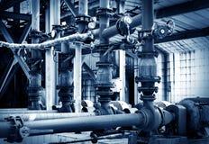 Трубопровод индустриальной зоны Стоковое Фото
