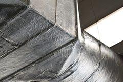 Трубопроводы промышленной системы вентиляции Стоковое Фото