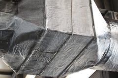 Трубопроводы промышленной системы вентиляции Стоковая Фотография RF
