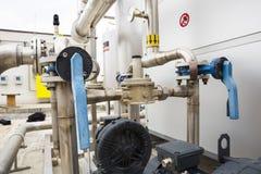 Трубопроводы танка природного газа Стоковые Фотографии RF