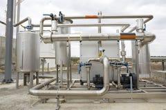 Трубопроводы танка природного газа Стоковое Изображение