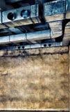 Трубы и воздуховоды вентиляции в старом здании Стоковые Изображения