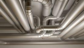 Трубы системы HVAC иллюстрация 3d иллюстрация штока