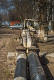 Трубы старой фабрики Украдите большой трубопровод Стоковое Изображение RF