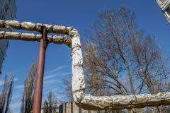 Трубы старой фабрики Украдите большой трубопровод Стоковые Фото