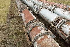 Трубы старой фабрики Стоковые Фото