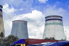 Трубы дыма станции тепловой мощности Стоковые Изображения RF
