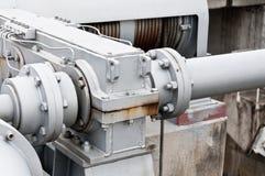 Трубы для транспортировать воду для того чтобы произвести электричество стоковая фотография rf