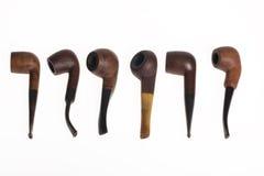 трубы 6 деревянные стоковая фотография