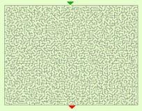 Трудный квадратный шаблон лабиринта Стоковая Фотография RF