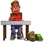 трудный студент Стоковая Фотография